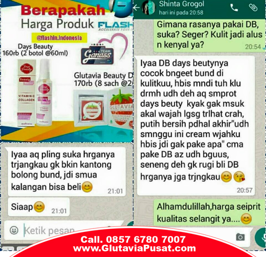 Days Beauty flashin glutavia testimoni