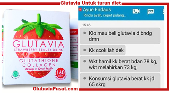 Glutavia beauty drink flashin untuk diet