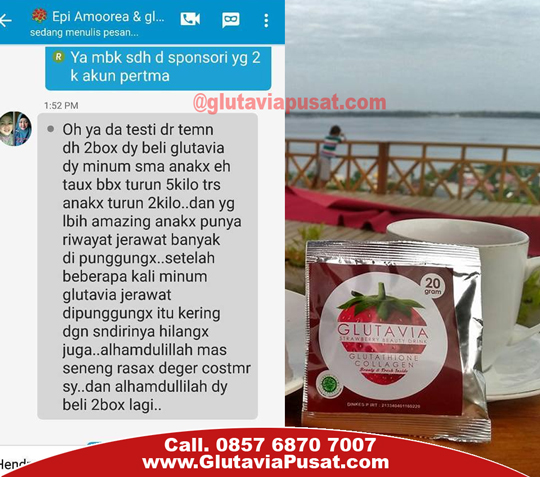 Glutavia flashin strawberry beauty drink untuk diet