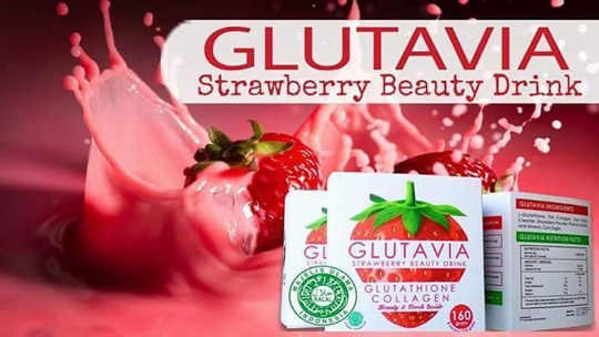 susu glutavia strawberry beauty drink