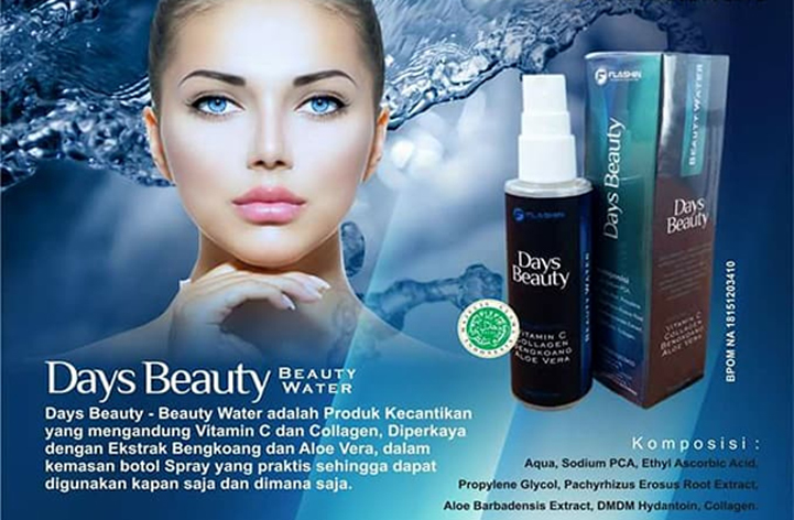 Days Beauty Water Kemasan Baru 2017